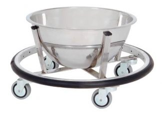 Bowl with cart on wheels for operation rooms - 8L - Support: Stainless steel