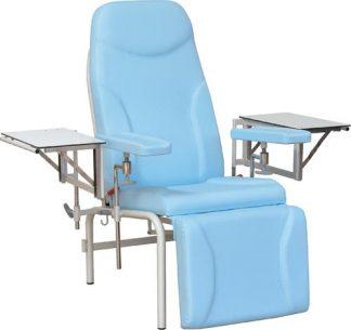 Provtagningsstol med anpassningsbara armstöd - 2 infällbara sidobord