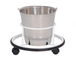 Bowl with cart on wheels for operation rooms - 12L - Support: White coated steel