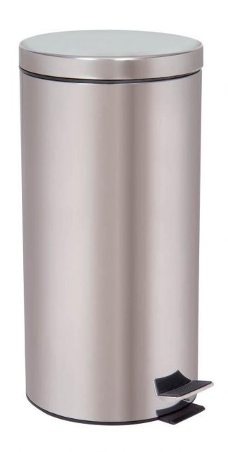 Papperskorg med fotpedal - 30 Liter - Rostfritt stål