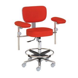 Kirurgstol / operationsstol med fot- och armstöd - Aluminiumbas