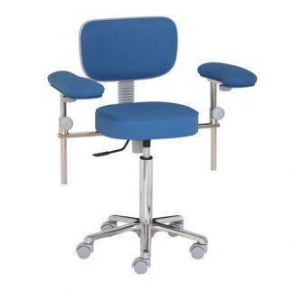 Kirurgstol / operationsstol med armstöd - Aluminiumbas