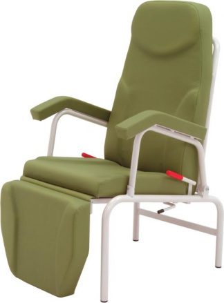 Stationary resting chair with armrests - Individual adjustment of back and legrests