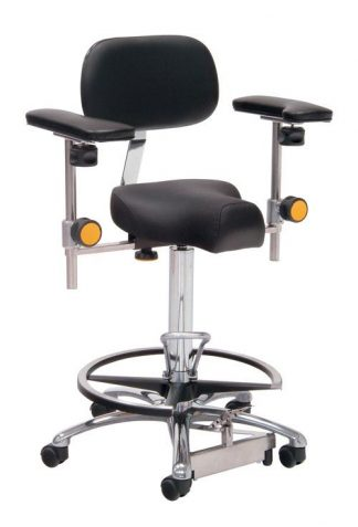 Triform surgical chair / operation chair with foot and armrests - Foot maneuvered