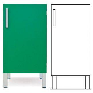 Golvstående skåp - ISO-modul - 1 dörr