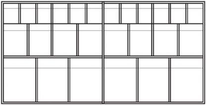Väggskåp med utdragbara lådor - 123,5x35x60 cm