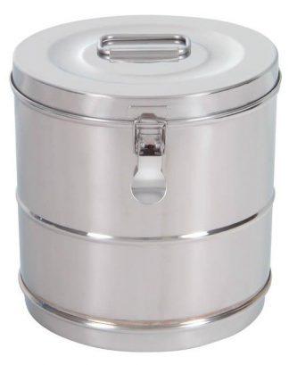 Cylindrisk steriliseringsbehållare i rostfritt stål - Ø 20×20 cm