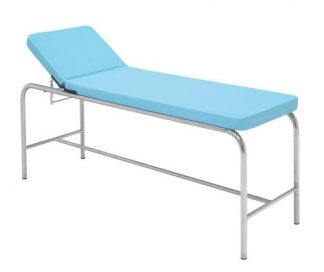 Stationary treatment table - 2 sections - Stainless steel