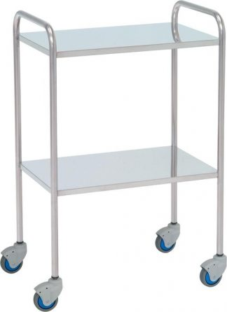Instrument table - 2 shelves - 60x40x87 cm - Flat edges
