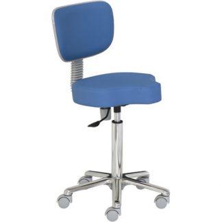 Tri-formad stol med ryggstöd - Aluminiumbas
