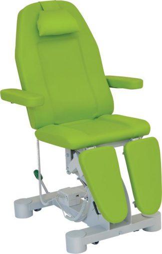 Elektrisk fotvårdsstol - 3-delad med armstöd och hjul