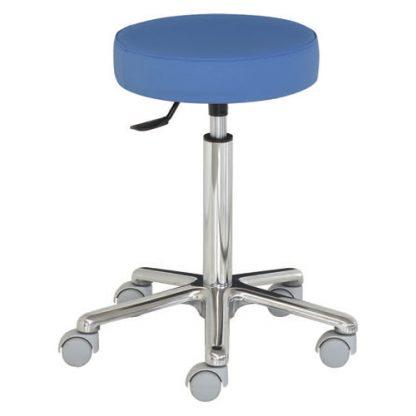 Rund stol med aluminiumbas - Extra hög