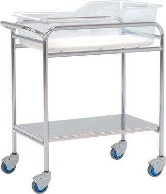 Spädbarnssäng för neonatologi - Kromad stålstruktur - 80x48x85 cm