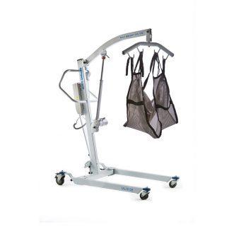 Elektrisk patientlyft med hjul och justerbar arm - Max belastning: 180 kg