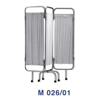 Vikvägg med hjul för avskärmning - 3-delad - Brandsäker - Tvättbar