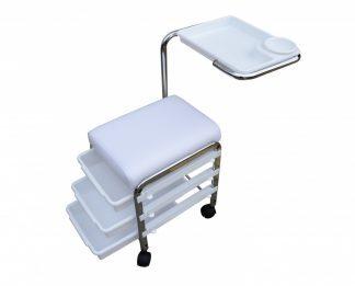 Manikyrstol utrustad med 3 förvaringslådor