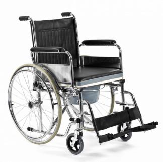 Hopfällbar rullstol med toalettfunktion