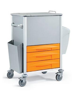 Vagn i metall - Ideal för dokumenthantering och förvaring - 78x60x117H cm