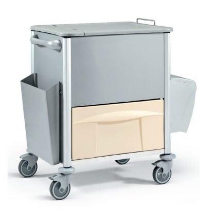 Vagn i metall - Ideal för dokumenthantering och förvaring - 78x60x101H cm