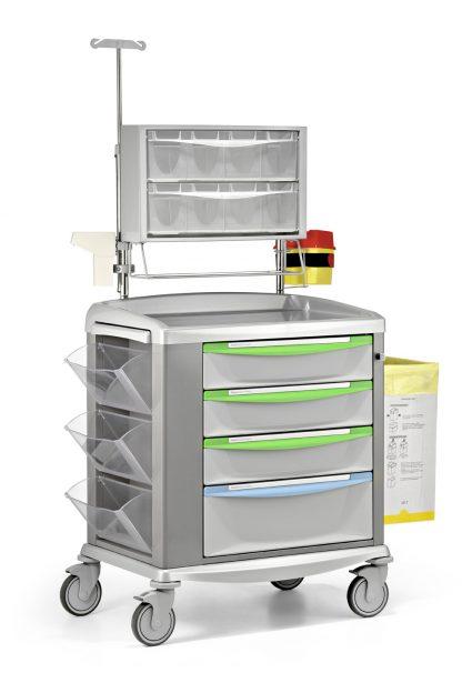 Medicinvagn – Utrustad för medicinering - Stålram - 92 cm bred