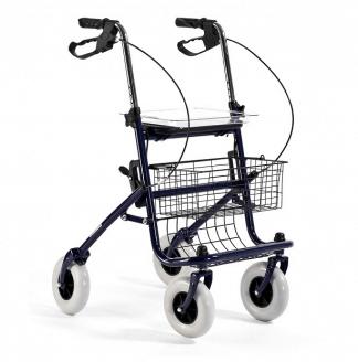 Rollator i stål med 4 hjul