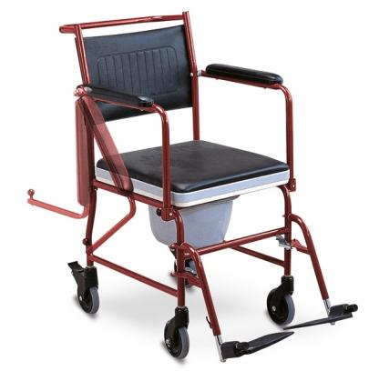 Rullstol för transport med toalettfunktion