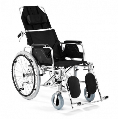 Hopfällbar rullstol med aluminiumram - Justerbart ryggstöd