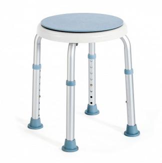 Rund duschpall med roterande sittplatta