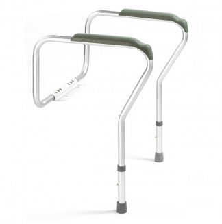 Grab bar adapted for toilets