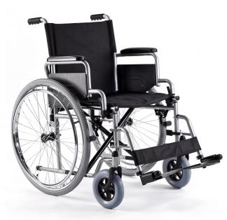 Hopfällbar rullstol med stålram - Bälte och enkelt avtagbara hjul