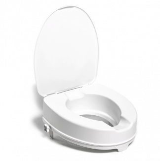 Toilet seat raiser with lid - 10 cm