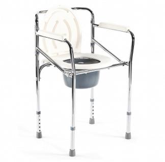 Hopfällbar duschstol med toalettfunktion - Kromram