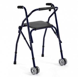Gåram i aluminium med 2 hjul
