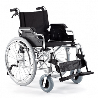 Hopfällbar rullstol - Lättvikt - Aluminiumram