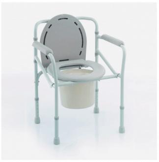 Hopfällbar duschstol med toalettfunktion