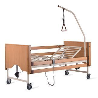 Hospital bed with several functions