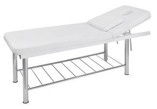 Stationary treatment table - 2 sections - Face hole with plug