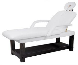Stationär SPA-säng - 2-delad med träunderrede (PVC) - Armstöd