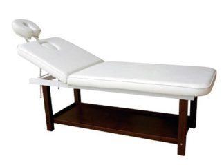 Stationär SPA-säng - 2-delad med träunderrede (PVC) - Ansiktsstöd