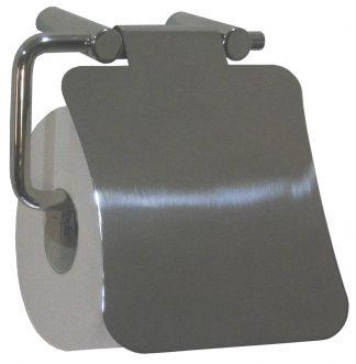Toalettpappershållare med lock i rostfritt stål