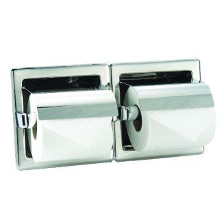 Toalettpappershållare (dubbla) i rostfritt stål - För inbyggnation