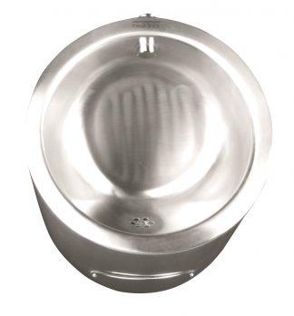 Pissoar i rostfritt stål - 35,5 x 31,6 x 52,1 cm