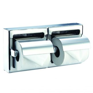 Toalettpappershållare (dubbla) i rostfritt stål