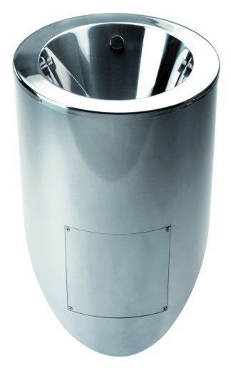 Pissoar i rostfritt stål - 36,5 x 32,5 x 66 cm