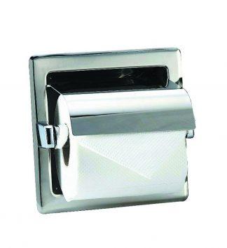 Toalettpappershållare i rostfritt stål (AISI 304) - 160 x 160 x 120 mm