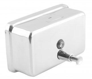 Tvåldispenser med knapp i rostfritt stål (AISI 304) - Horisontell