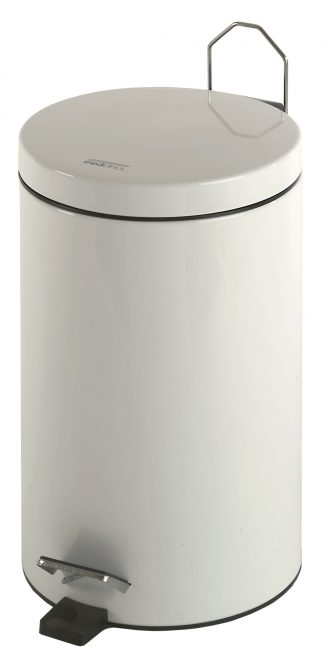Cylinder shaped waste basket with pedal - 12 Litres
