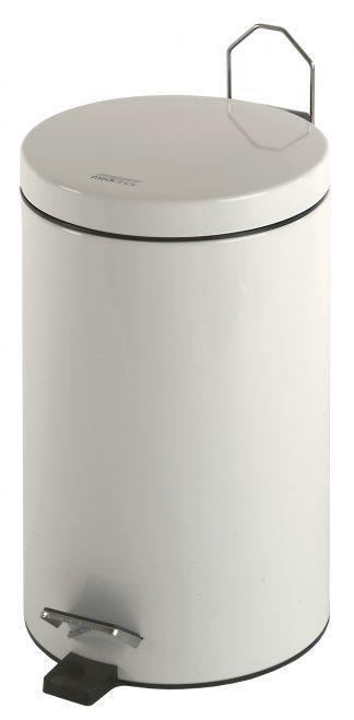 Cylinderformad papperskorg med pedal - 12 Liter