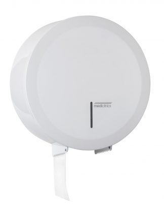 Dispenser för toalettpapper - Ø230mm för industripappersrullar - Vit