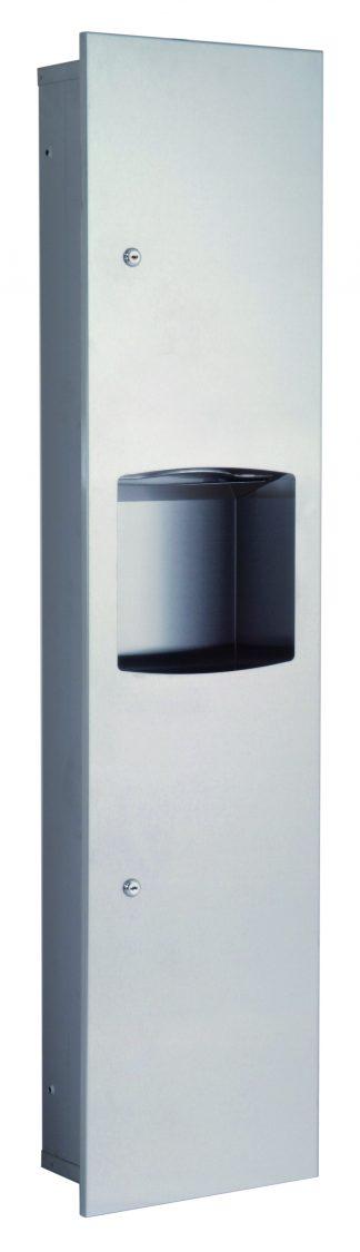 Dispenser för pappershandduk och papperskorg